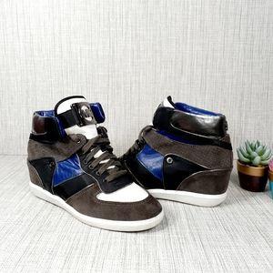 Michael Kors High Top Wedged Sneakers 9